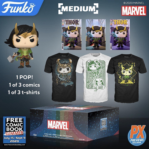 Funko Pop! Loki Mystery Box Pop & Tee Bundle - Medium [PX] [FCBD 2020]