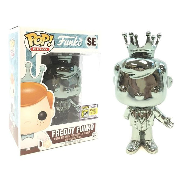 Funko Pop! Blue Chrome Freddy Funko #SE LE 425 [2017 Funko Fundays]