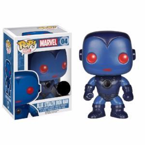 Funko Pop Marvel: Blue Stealth Iron Man #04 Vaulted Bobble-Head Figure Brand New