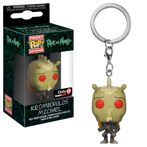 Funko Pocket POP Keychain: Rick and Morty - Krombopulos Michael [GameStop]
