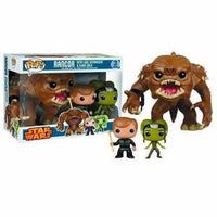 Funko Pop! STAR WARS: Rancor with Luke Skywalker & Slave Oola 3-Pack