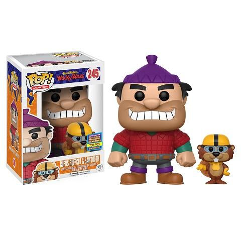 Funko Pop! HANNA BARBERA: Rufus Ruffcut & Sawtooth #245 LE 750 [2017 Funko Pop Up Shop]