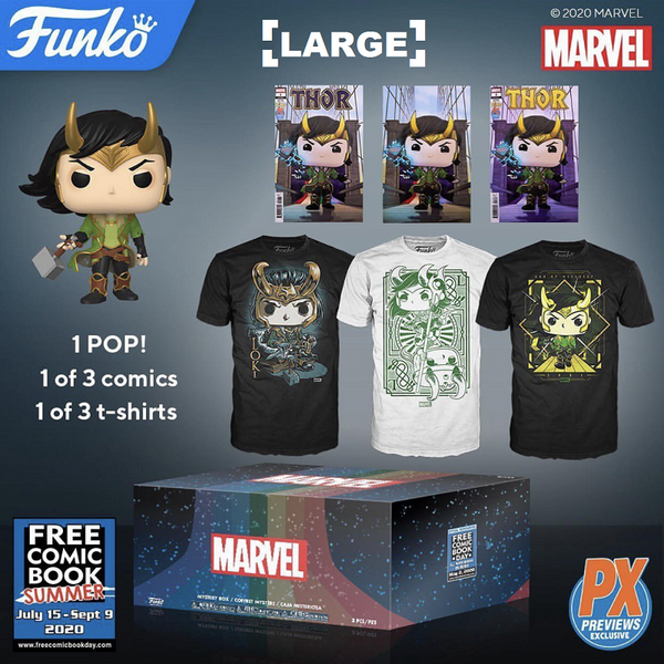 Funko Pop! Loki Mystery Box Pop & Tee Bundle - Large [PX] [FCBD 2020]