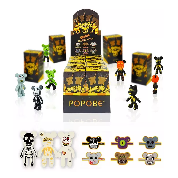 Popobe Keychain Mix and Match Blind Box Horror!! Case of 8