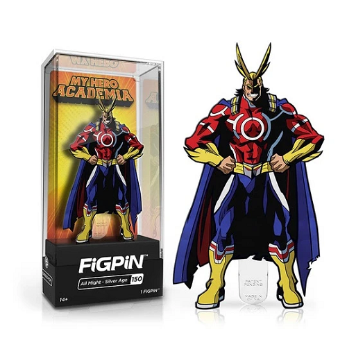 "FigPin My Hero Academia: All Might - Silverage Age #150 Cast Zing Alloy [3""]"