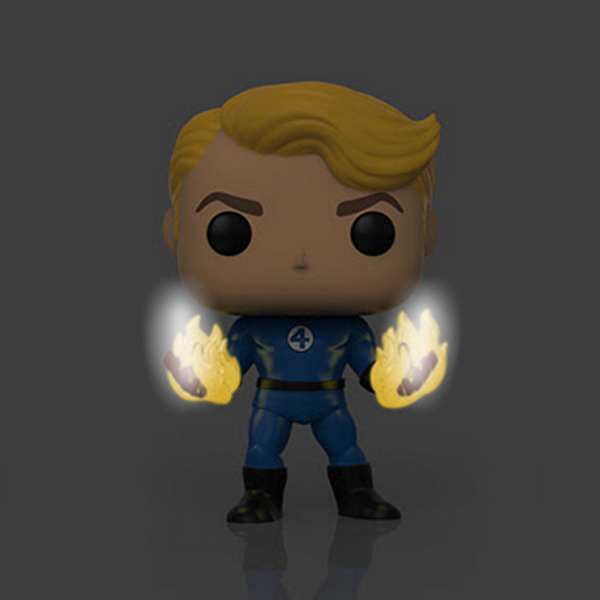 Funko Pop! MARVEL Fantastic Four: Human Torch Suited [GITD] #568 [Specialty Series]