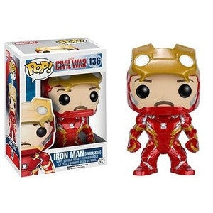 Funko Pop! MARVEL: Iron Man [Unmasked] #136 [Hot Topic]