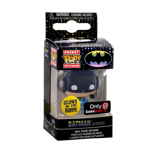 Funko Pocket POP Keychain: DC - Batman Gamer [GITD] [GameStop]