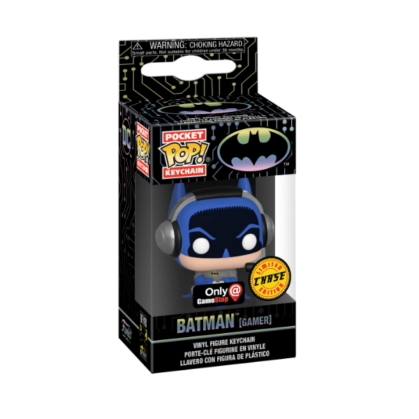 Funko Pocket POP Keychain: DC - Batman Gamer [Chase] [GameStop]