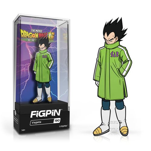 "FigPin Dragon Ball Super Broly: Vegeta #190 Cast Zinc Alloy [3""]"