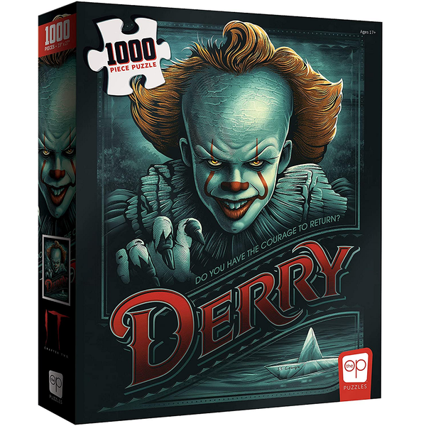 "USAOPOLY IT Chapter 2 ""Return to Derry"" - Pennywise 1000 Piece Puzzle"