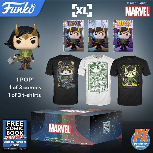 Funko Pop! Loki Mystery Box Pop & Tee Bundle - XL [PX] [FCBD 2020]