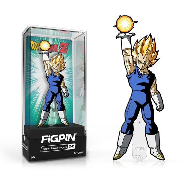 "FigPin Dragon Ball Super: Super Saiyan Vegata #341 Cast Zinc Alloy [3""]"