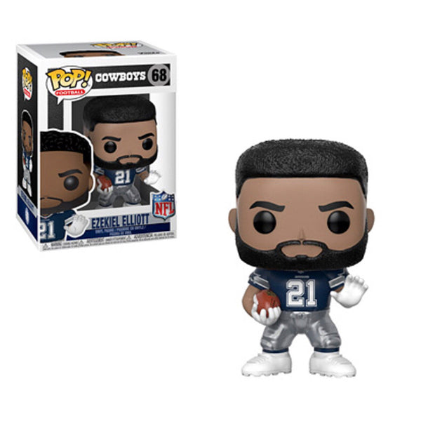 Funko Pop! NFL Cowboys: Ezekiel Elliott [Away] #68