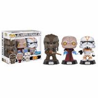 Funko Pop! STAR WARS: Tarfful / Unhooded Emperor / Utapau Clone Trooper 3-Pack [Walmart]