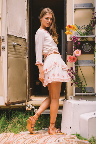 Wildflower Ruffle Skirt