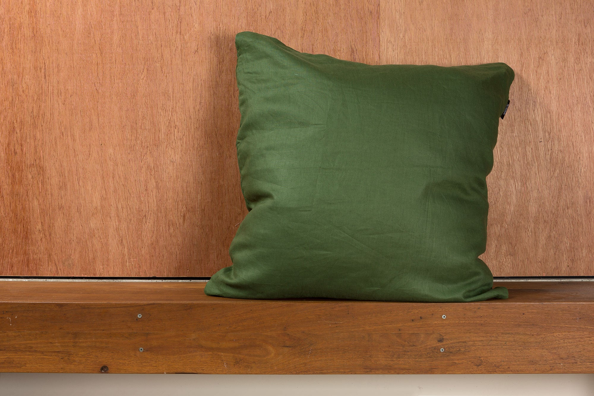 Dark Green Linen European Pillowcase