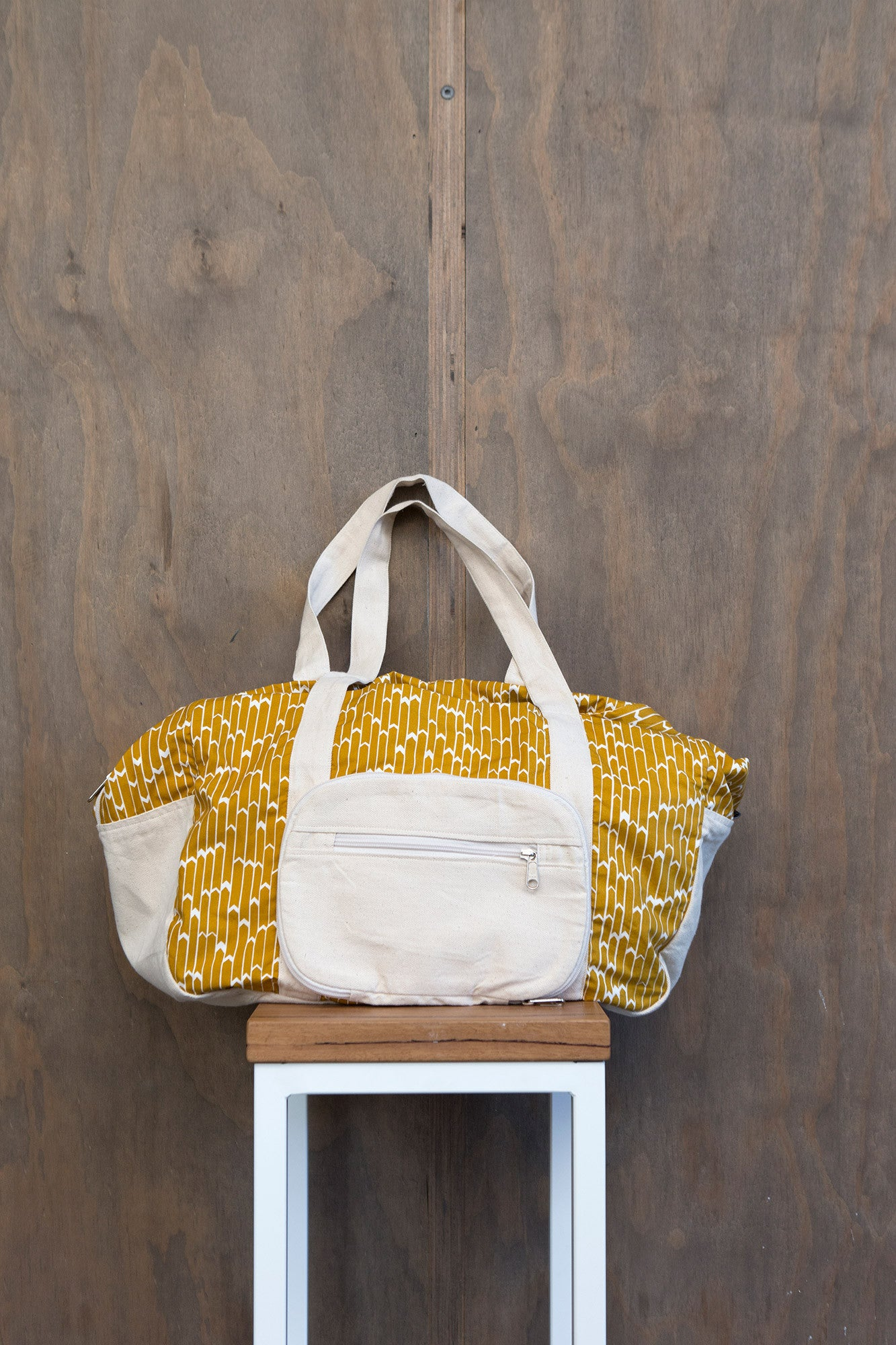 Yellow Flags Cotton & Canvas Duffel Bag
