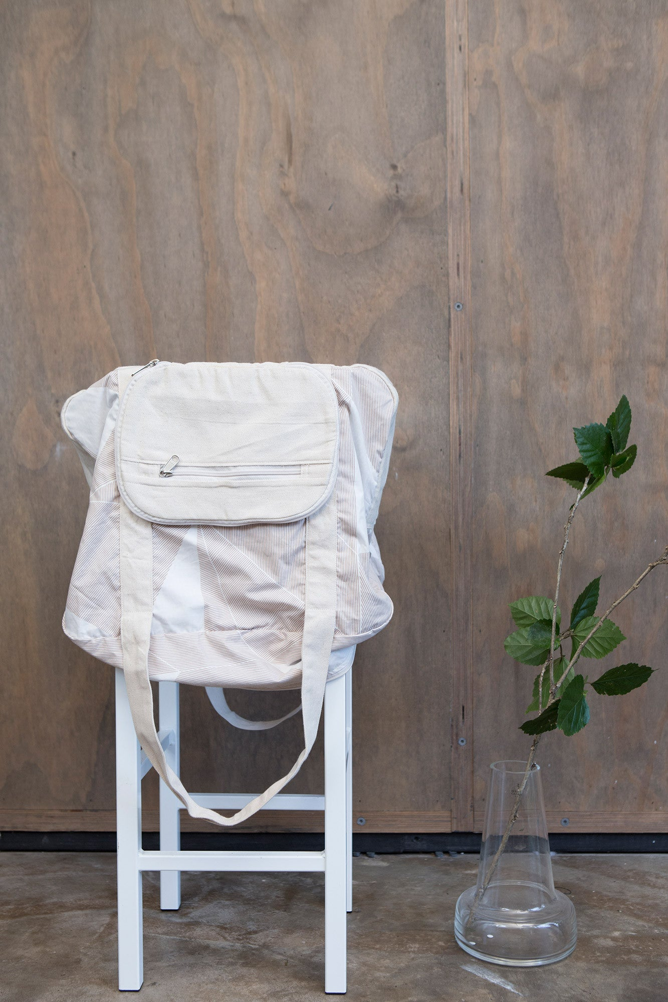 Pale Stripe Cotton & Canvas Duffel Bag