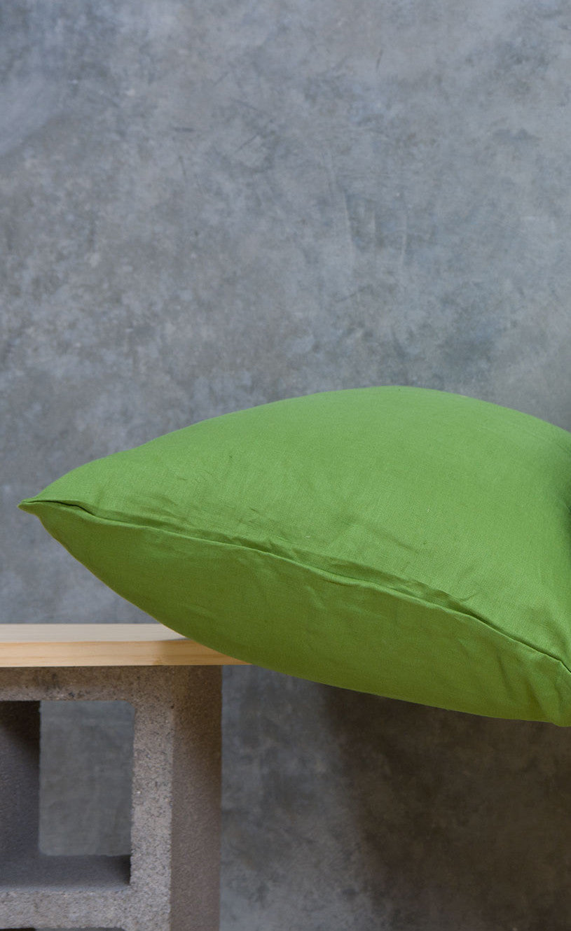Green Linen - Single Standard Pillowcase