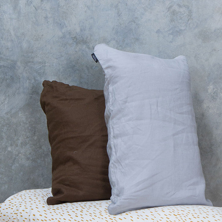 Silver Linen - Single Standard Pillowcase