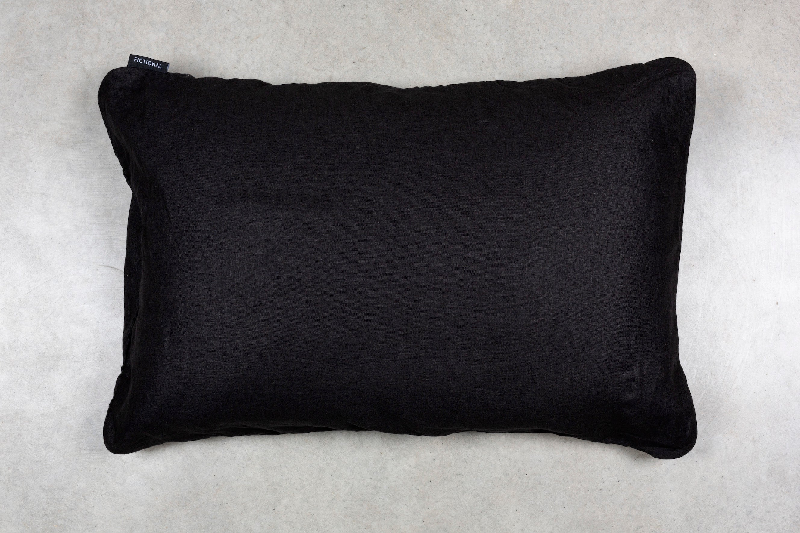 Black Linen - Single Standard Pillowcase