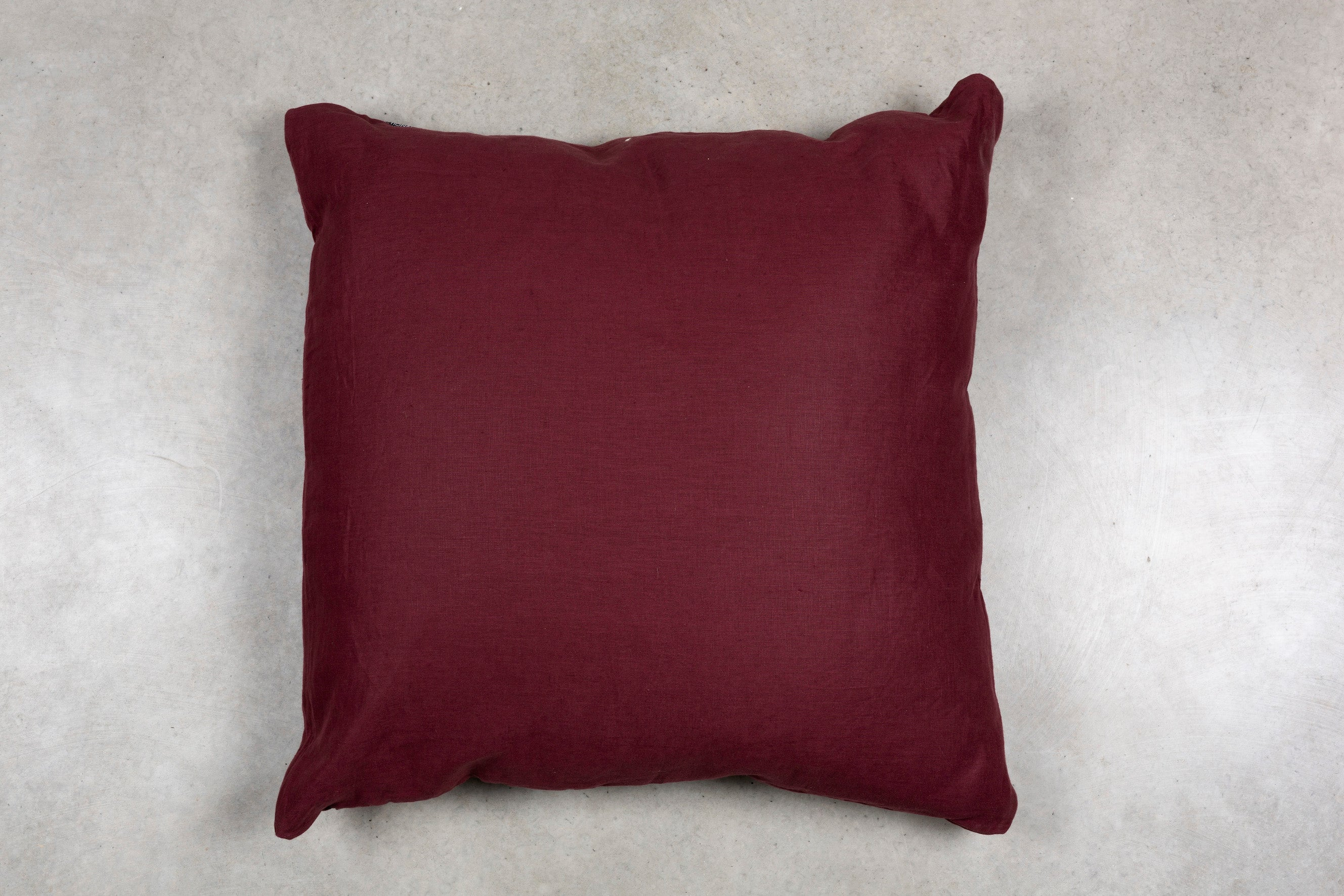 Plum Linen European Pillowcase