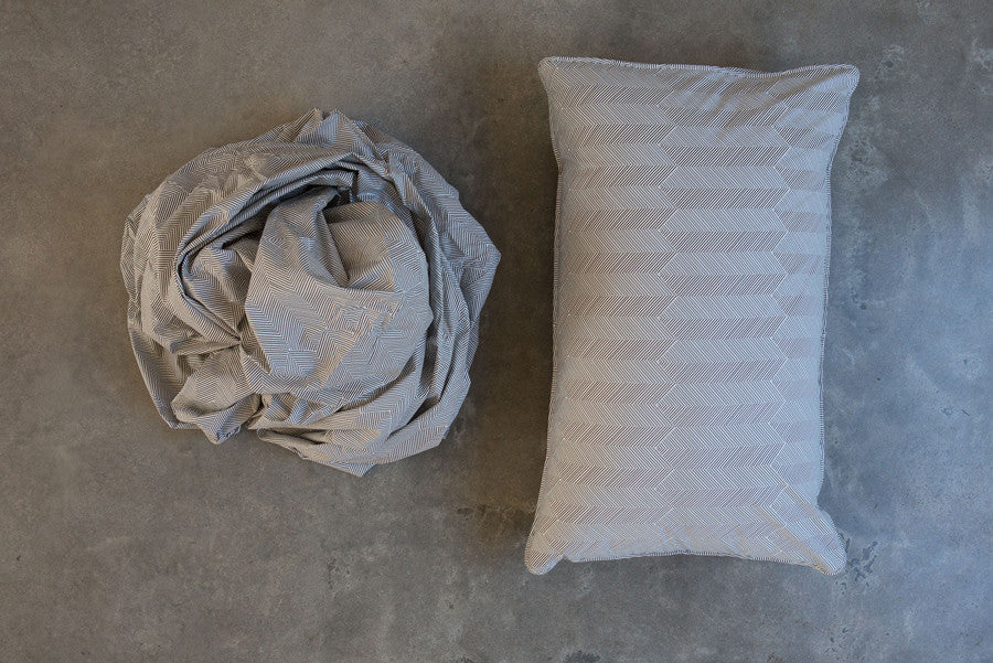 Black Herringbone Pillowcases - Fictional Objects