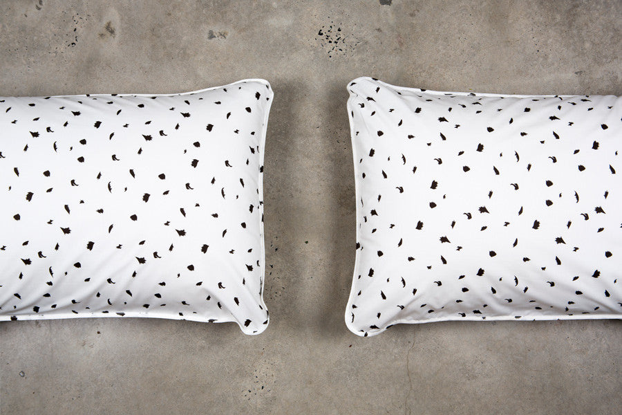 Black Palm Pillowcases - Fictional Objects