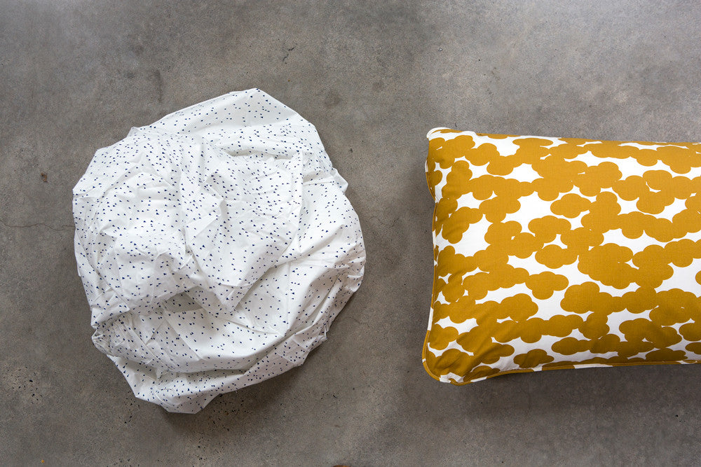 Navy Flek Fitted Sheet - Fictional Objects