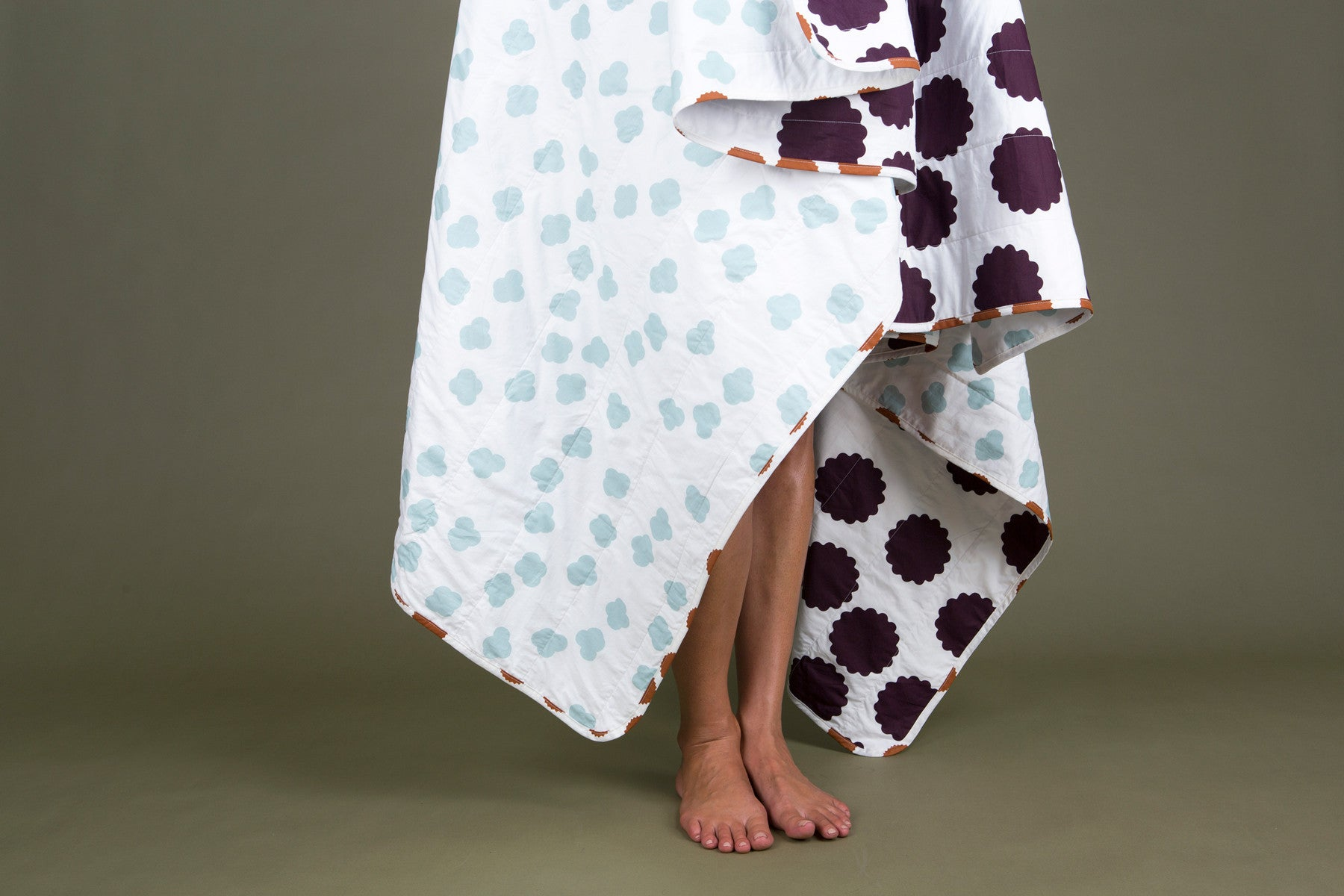 Harbour Spot & Plum Circle Cotton Blanket - MEDIUM & LARGE