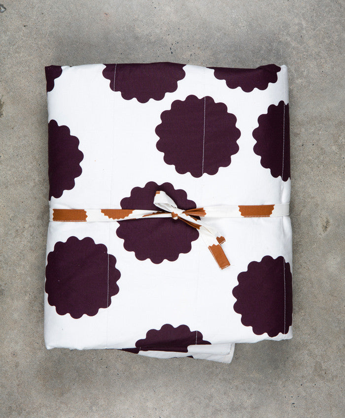 Harbour Spot & Plum Circle Cotton Blanket - MEDIUM & LARGE - Fictional Objects