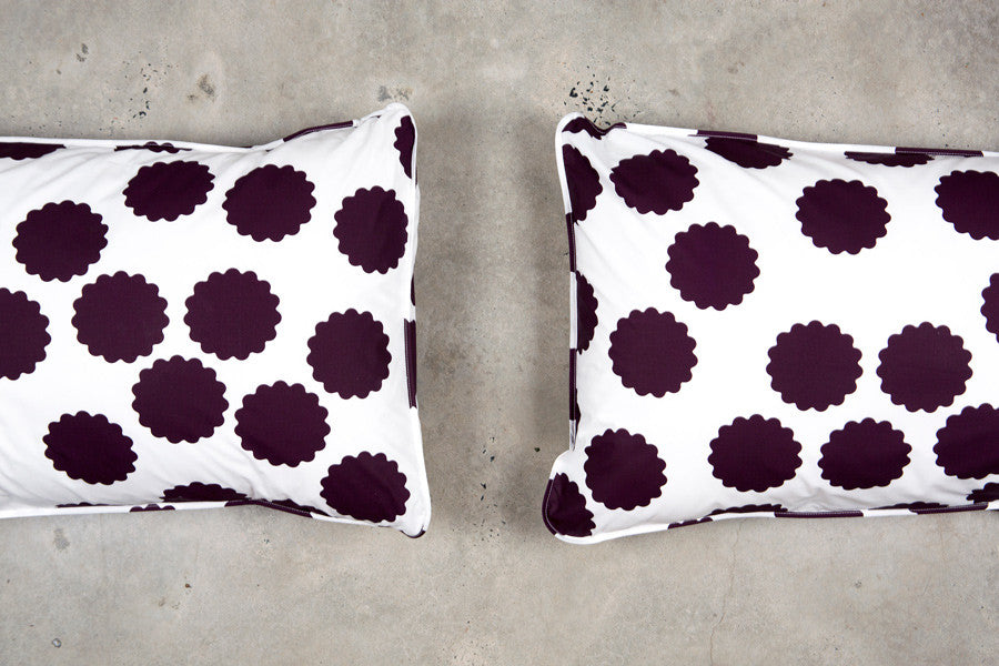 Plum Circle Pillowcases - Fictional Objects