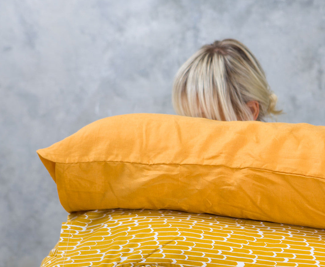 Yellow Linen - Single Standard Pillowcase