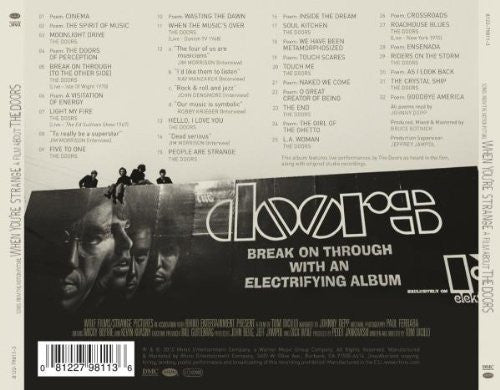 The Doors When You're Strange (Movie Soundtrack) [CD] back