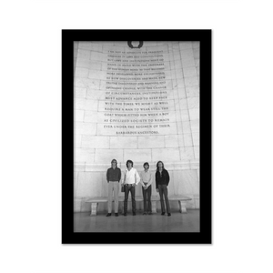 The Doors At The Jefferson Memorial Gallery Print black frame