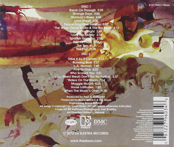 The Doors Weird Scenes Inside The Gold Mine [CD] back