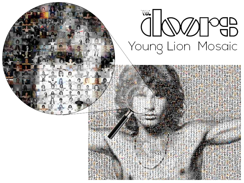 The Young Lion Mosaic Project Poster Print