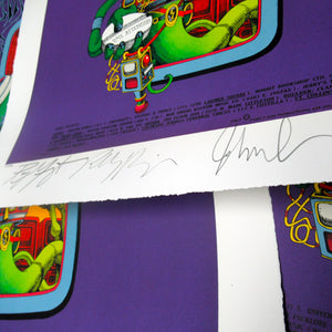 The Doors AUTOGRAPHED Pay Attention/Spaceman Lithograph (Limited Edition) Close Up
