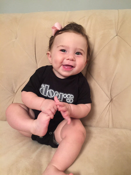 The Doors Logo Infant Onesie Black