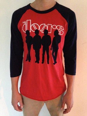 The Doors 3/4 Sleeve Raglan Silhouette Tee Lifestyle Male