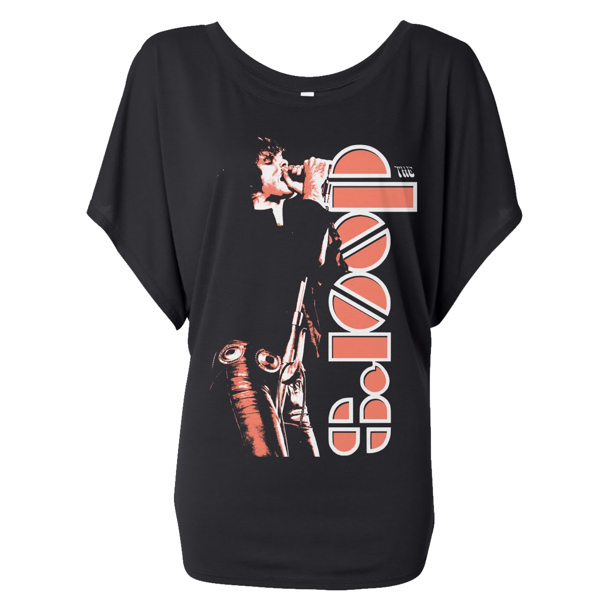 Ladies Jim Morrison Icon Flowy T-Shirt