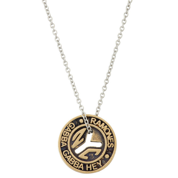 Ramones Nyc Subway Token Necklace