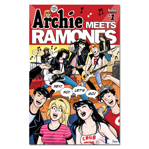 Archie Meets Ramones Limited-edition Giclée Print