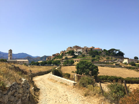 corsica town on hill
