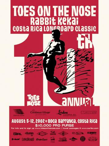 rabbit kekai surf contest poster surfshop surf co