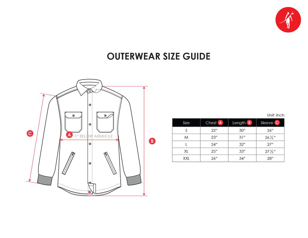 outerwear size chart
