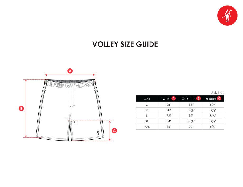 volley size chart