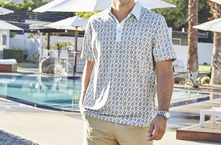 slim fit polo luxury resort wear