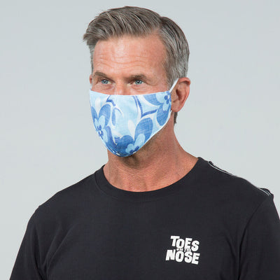 6 Pack | Performance Pique Face Mask blue